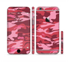 The Pink and Red Tradtional Camouflage Sectioned Skin Series for the Apple iPhone 6 Plus