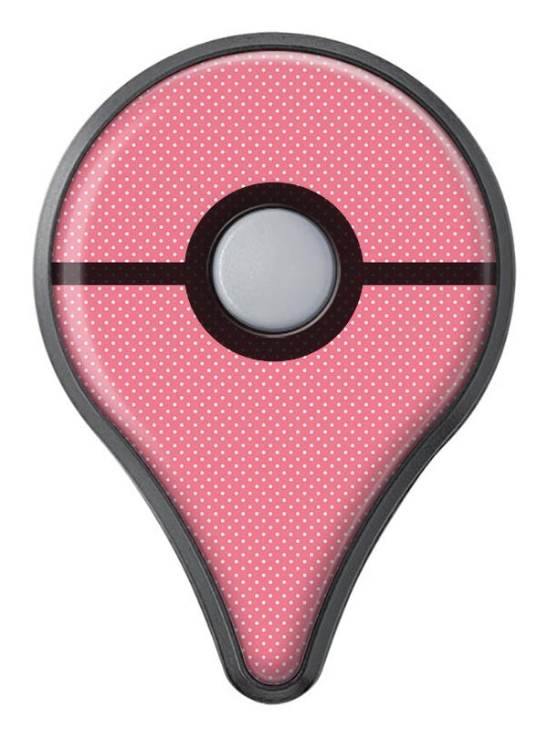The Pink and White Micro Dot Pattern Pokémon GO Plus Vinyl Protective Decal Skin Kit