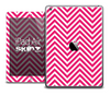 The Pink and White Sharp Chevron Pattern Skin for the iPad Air