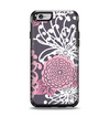 The Pink and White Solid Flowers Apple iPhone 6 Otterbox Symmetry Case Skin Set