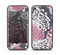 The Pink and White Solid Flowers Skin Set for the iPhone 5-5s Skech Glow Case