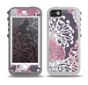 The Pink and White Solid Flowers Skin for the iPhone 5-5s OtterBox Preserver WaterProof Case