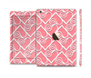 The Pink and White Swirly Heart Design Full Body Skin Set for the Apple iPad Mini 3