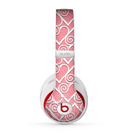 The Pink and White Swirly Heart Design Skin for the Beats by Dre Studio (2013+ Version) Headphones