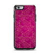 The Pink and Yellow Floral Vine Pattern Apple iPhone 6 Otterbox Symmetry Case Skin Set
