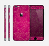 The Pink and Yellow Floral Vine Pattern Skin for the Apple iPhone 6