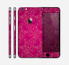 The Pink and Yellow Floral Vine Pattern Skin for the Apple iPhone 6 Plus
