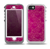 The Pink and Yellow Floral Vine Pattern Skin for the iPhone 5-5s OtterBox Preserver WaterProof Case