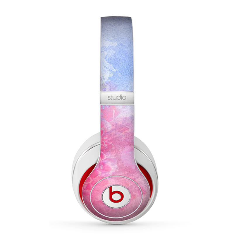 The Pink to Blue Faded Color Floral Skin for the Beats by Dre Studio (2013+ Version) Headphones