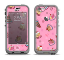 The Pink with Yummy Cakes Apple iPhone 5c LifeProof Nuud Case Skin Set