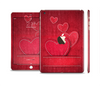 The Pocket with Red Scratched Hearts Full Body Skin Set for the Apple iPad Mini 3