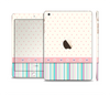 The Polka Dots with Green and Purple Stripes Full Body Skin Set for the Apple iPad Mini 3