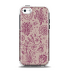 The Puprle and Light Pink Sketched Lace Patterns v21 Apple iPhone 5c Otterbox Symmetry Case Skin Set