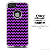 The Purple & Black Chevron Skin For The iPhone 4-4s or 5-5s Otterbox Commuter Case