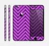 The Purple & Black Sketch Chevron Skin for the Apple iPhone 6