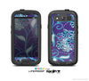 The Purple & Blue Vector Floral Design Skin For The Samsung Galaxy S3 LifeProof Case