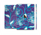 The Purple & Blue Vector Floral Design Full Body Skin Set for the Apple iPad Mini 3
