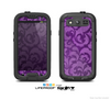 The Purple Bright Lace Pattern Skin For The Samsung Galaxy S3 LifeProof Case