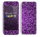 The Purple Bright Lace Pattern Skin for the Apple iPhone 5c
