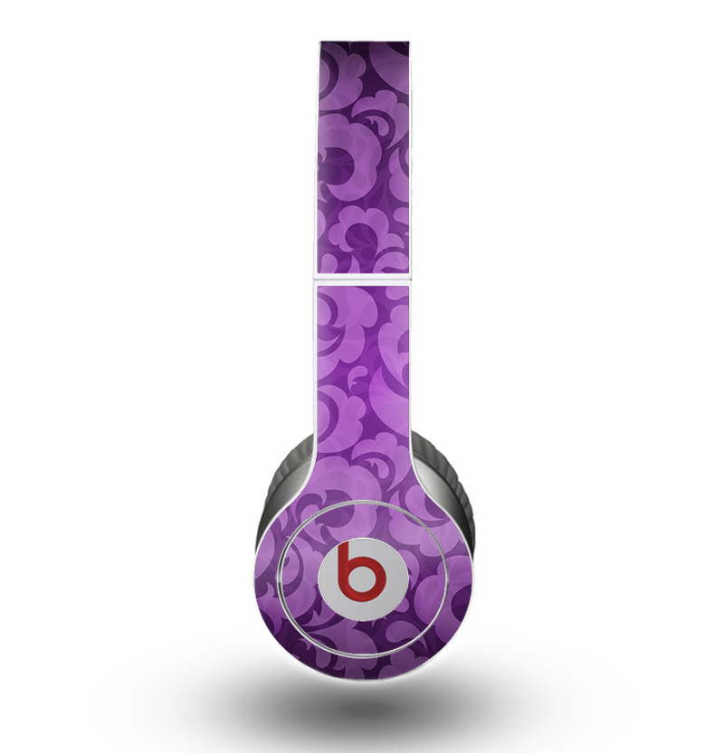 The Purple Bright Lace Pattern Skin for the Beats by Dre Original Solo-Solo HD Headphones
