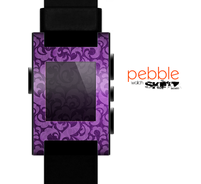 The Purple Bright Lace Pattern Skin for the Pebble SmartWatch