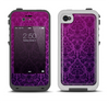The Purple Delicate Foliage Pattern Apple iPhone 4-4s LifeProof Fre Case Skin Set