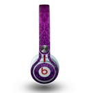 The Purple Delicate Foliage Pattern Skin for the Beats by Dre Mixr Headphones