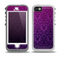 The Purple Delicate Foliage Pattern Skin for the iPhone 5-5s OtterBox Preserver WaterProof Case