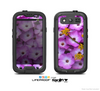 The Purple Flowers Skin For The Samsung Galaxy S3 LifeProof Case