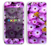 The Purple Flowers Skin for the Apple iPhone 5c