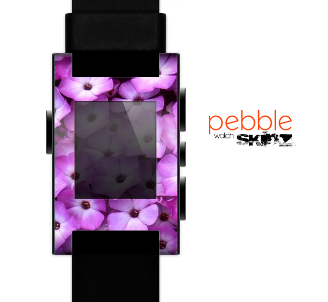 The Purple Flowers Skin for the Pebble SmartWatch
