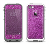 The Purple Glitter Ultra Metallic Apple iPhone 5-5s LifeProof Fre Case Skin Set