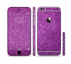 The Purple Glitter Ultra Metallic Sectioned Skin Series for the Apple iPhone 6