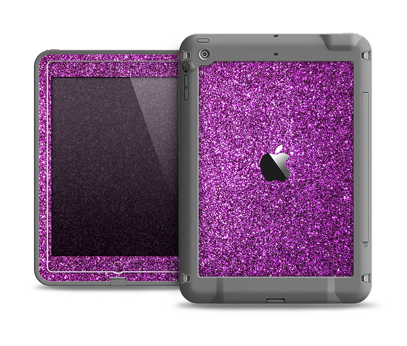 The Purple Glitter Ultra Metallic Apple iPad Air LifeProof Fre Case Skin Set