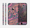 The Purple, Green, and Blue Vector Floral Pattern Skin for the Apple iPhone 6