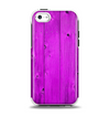 The Purple Highlighted Wooden Planks Apple iPhone 5c Otterbox Symmetry Case Skin Set