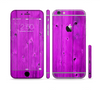The Purple Highlighted Wooden Planks Sectioned Skin Series for the Apple iPhone 6