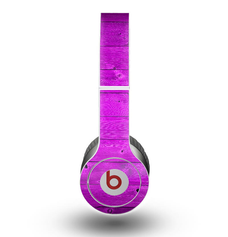 The Purple Highlighted Wooden Planks Skin for the Beats by Dre Original Solo-Solo HD Headphones