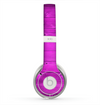 The Purple Highlighted Wooden Planks Skin for the Beats by Dre Solo 2 Headphones