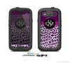 The Purple Leopard Custom Monogram Skin For The Samsung Galaxy S3 LifeProof Case