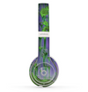 The Purple Metal with Lime Green Rust Skin Set for the Beats by Dre Solo 2 Wireless Headphones