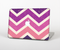 "The Purple Scratched Texture Chevron Zigzag Pattern Skin Set for the Apple MacBook Pro 15"" with Retina Display"