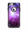 The Purple Space Neon Explosion Apple iPhone 6 Otterbox Commuter Case Skin Set