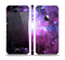 The Purple Space Neon Explosion Skin Set for the Apple iPhone 5
