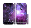 The Purple Space Neon Explosion Sectioned Skin Series for the Apple iPhone 6 Plus