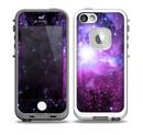 The Purple Space Neon Explosion Skin for the iPhone 5-5s fre LifeProof Case