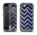 The Purple Textured Chevron Pattern Apple iPhone 5c LifeProof Nuud Case Skin Set