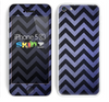 The Purple Textured Chevron Pattern Skin for the Apple iPhone 5c