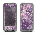 The Purple & White Butterfly Elegance Apple iPhone 5c LifeProof Nuud Case Skin Set