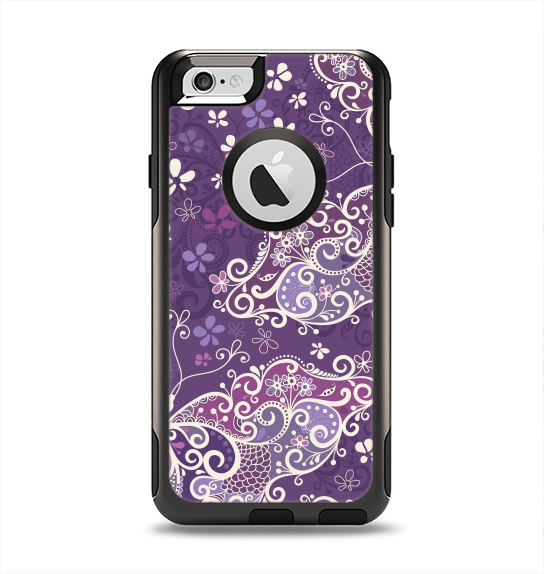 The Purple & White Butterfly Elegance Apple iPhone 6 Otterbox Commuter Case Skin Set